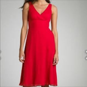 J.Crew Coral Red Wedding Party Dress Petite 4 4P
